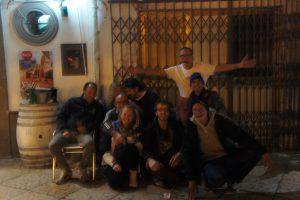 Abendliches Gruppenfoto