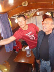 Fernando an Bord der Stella.